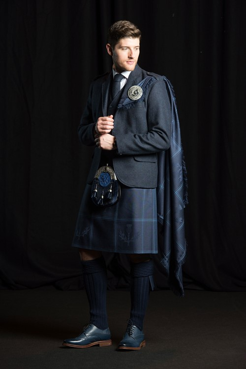 The Midnight Thistle Kilt from Kilts 4 U Glasgow